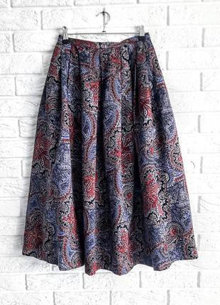 Пышная миди юбка в этно стиле.
