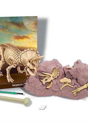 Набор для раскопок 4m скелет трицератопса