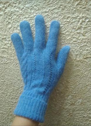 Рукавицы перчатки рукавички шерсть+ангора англія