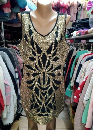 Платье, туника 52 размер, пайетка