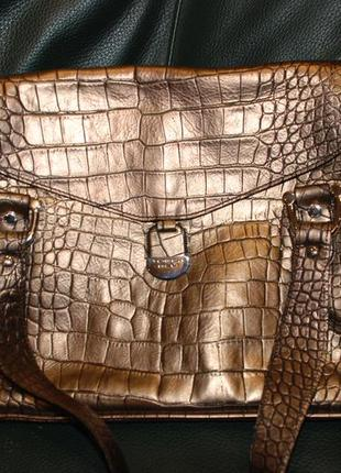 Женская кожаная итальянская сумка toska blu новая, оригинал