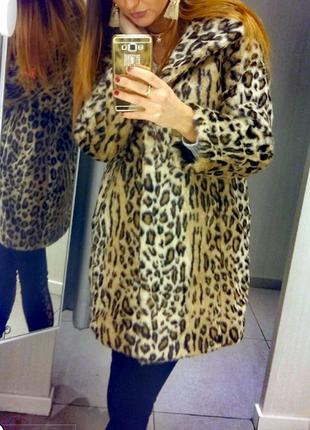 Шубка леопард