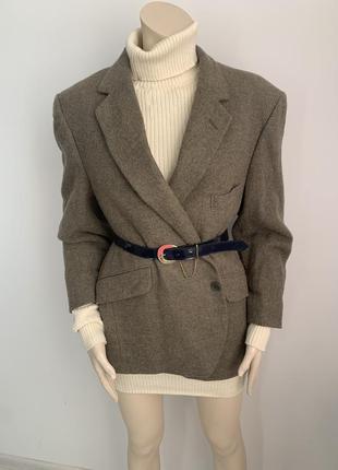 Шерстяной пиджак burberry/твидовый пиджак/burberry винтаж