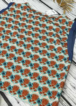 Топ-квадро с ярким принтом и округлой горловиной от zara  bd52133 фото