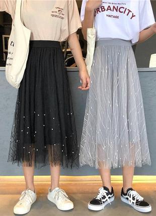 Крутейшие юбки с жемчугом  😍😍😌