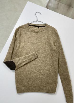 Тёплая кофта свитер из мягкой шерсти h&m