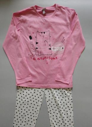 Пижама для девочек, 134см, 8-9лет, ovs