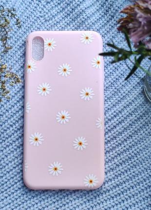 Рожевий чохол на iphone xs max  розовый чехол на iphone xs max