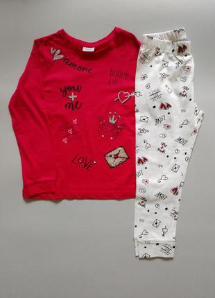 Пижама для девочки, 98см, 2-3 года