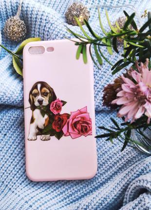Чохол з собакою на iphone 7+8+ чехол с собакой на iphone 7+ 8+