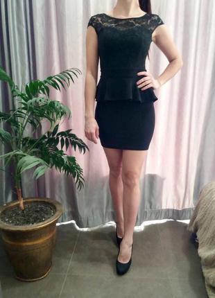Вечерние платье, кружевное платье, короткое платье, чёрное платье
