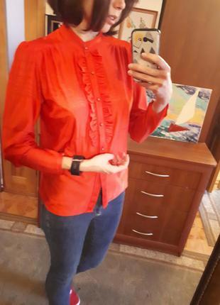 Рубашка блуза блузка без воротника