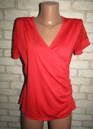Красная футболка р-р 38 стрейч