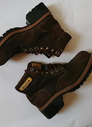 Ботинки, натуральный нубук, размер 41 26,5 см