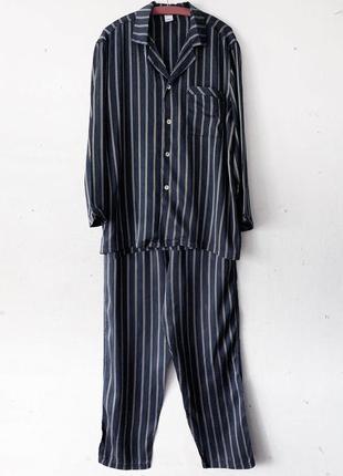 Шелковая пижама calida в полоску 100% шелк