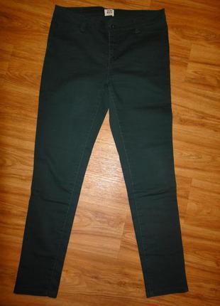 Стильные зеленые джинсы, брюки женские vero moda р. 48 (м) стрейч слим