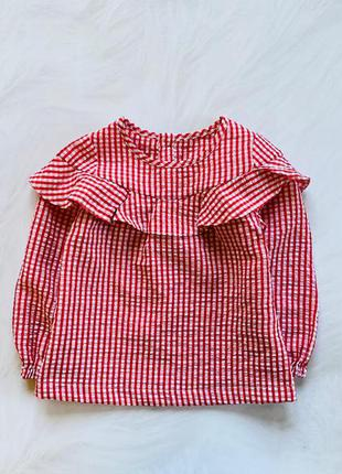 Nutmeg стильная блузка на девочку  2-3 года