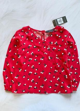 Primark новая стильная блузка на девочку  3-4 года