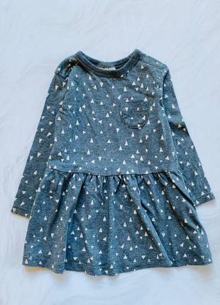 I love next стильное платье на девочку   12-18 мес