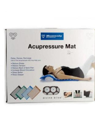 Масажний ортопедичний килимок з подушкою acupressure mat ортопедический массажный коврик 65 см*41 см