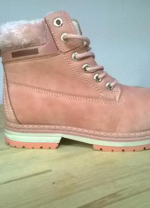 Стильные женские ботинки из нубука