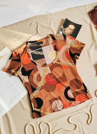 Винтажная футболка versace