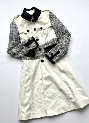 Красивое фирменное элегантное пальто плащ тренч karen millen англия
