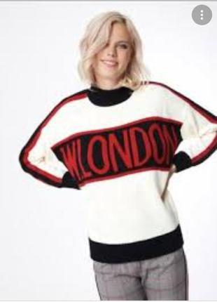 Теплый вязаный свитер м, l, xl