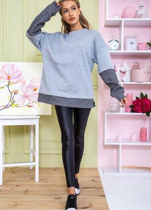 Свитшот-обманка 2021 свитер женский цвет серый