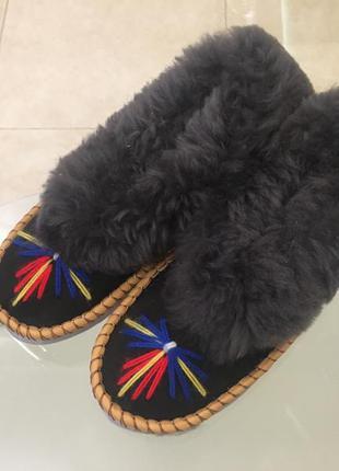 Распродажа стильные тапочки ручной работы из овечьей шерсти
