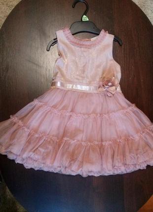 Нарядное платье next для девочки, 12-18 мес