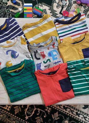 Сет футболок 9шт для мальчика 1,5-2,5 года