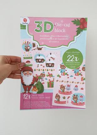 Набор заготовок для декупажа 3d, 12 листов decotime разноцветный