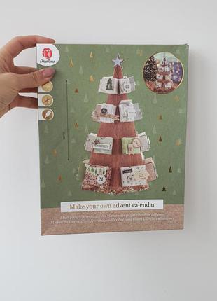 """Набор календарь сделай сам """"новогодняя ёлка"""" deco time разноцветный"""