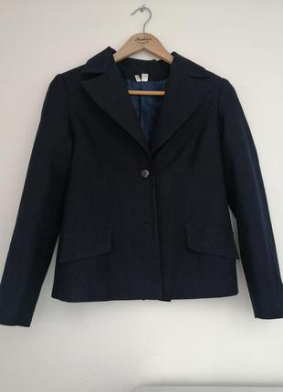 Детский пиджак для девочки в темно-синем оттенке