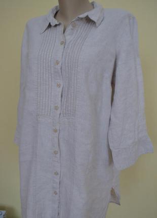 Блуза лен большой размер