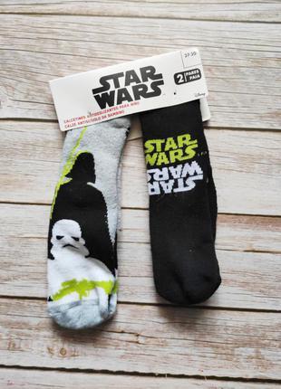 Махровые носки махрові шкарпетки 27/30 4-6 лет  disney star wars антискользящие  со стоперами