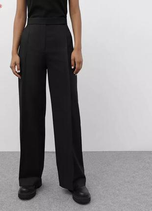 Стильные брюки палаццо со стрелками на высокий рост