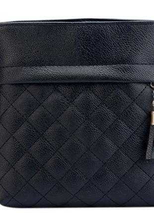 Стильная маленькая сумочка через плечо черная