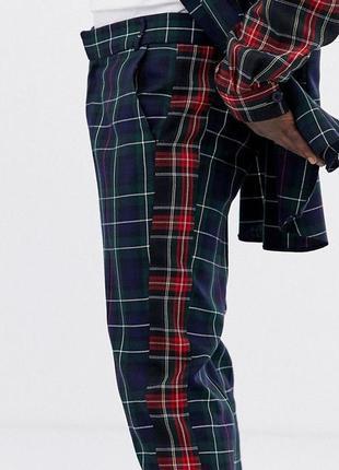 Класичні штани в клітку в клетку брюки asos x la quan smith - 32