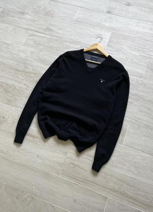 Шерстяной джемпер пуловер свитер gant