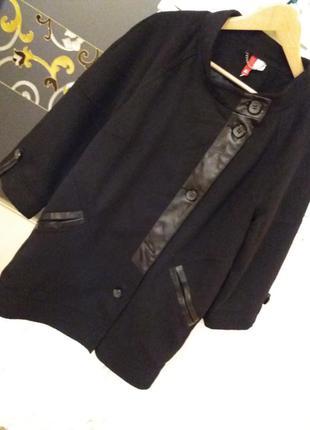 H&m шерстяное деми пальто