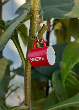 Nescafe ☕🍬 сувенир брелок миниатюра подвеска 1,5 см винтаж