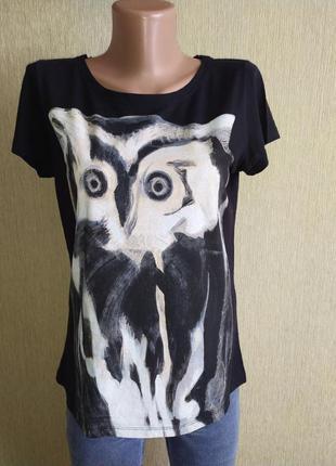 Фирменная классная футболка с совой, р. 36,38