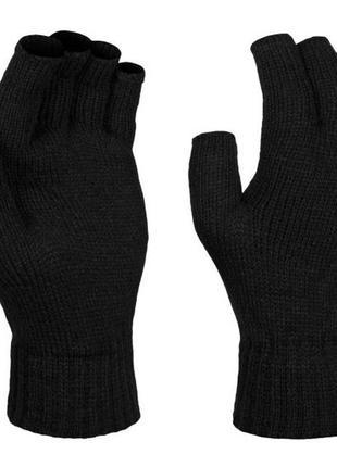 Перчатки  regatta men's thermal fingerless gloves black,