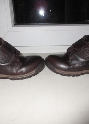 Кожаные деми ботинки timberland 25 р