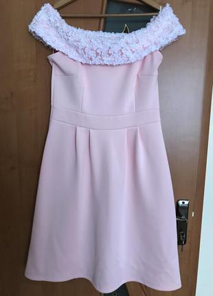 Платье розовое, плаття, сукня, миди