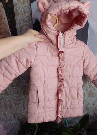 Куртка для девочки. 2-3 года. теплая куртка. детская куртка теплая