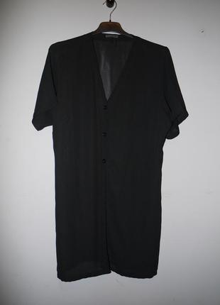 Черный жакет ( платье - рубашка ) . шифоновый