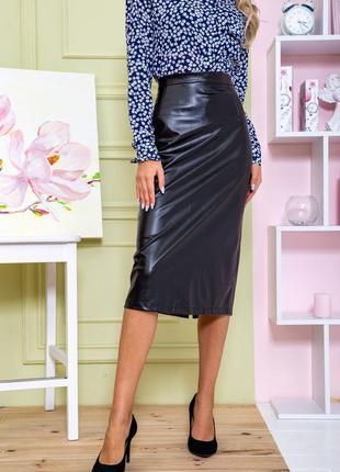Шикарные миди кож-зам качественный юбки цвета-s m l